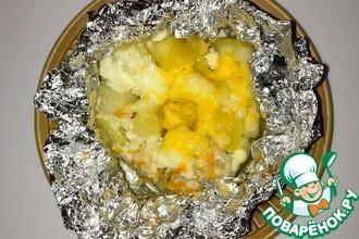 Рецепт: Курочка, запеченная с овощами, в фольге