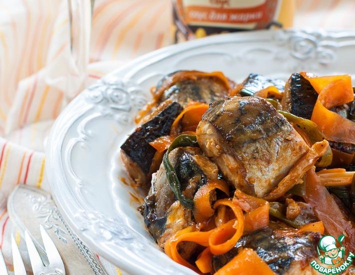 Рецепт: Скумбрия кисло-сладкая с морковью