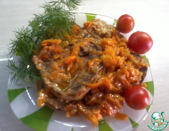 Рецепт: Жаренные кабачки с овощами