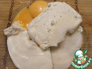 Песочный пирог с творогом и вишней под меренговыми облаками – кулинарный рецепт