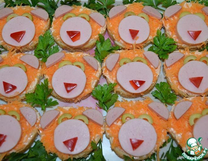 Рецепт: Бутерброды Львята