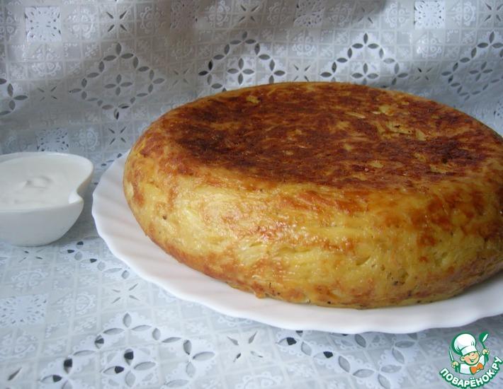 Рецепт: Картофельная запеканка с сосисками и сыром