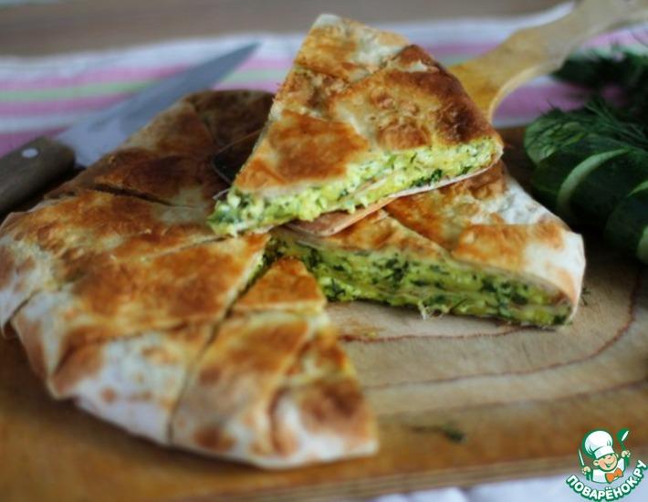 Рецепт: Быстрый слоеный сырный пирог