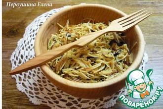 Рецепт: Вермишель с орехово-соевой заправкой