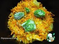 Картофель с морковью и шпинатом ингредиенты
