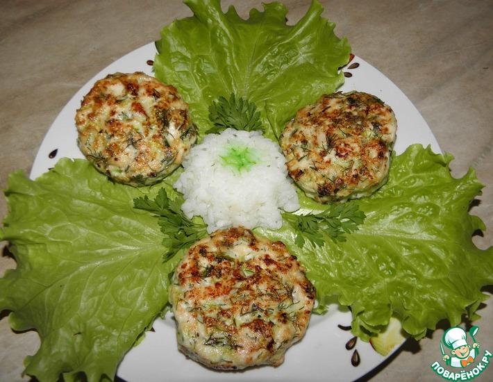Рецепт: Рубленые куриные котлеты с кабачком