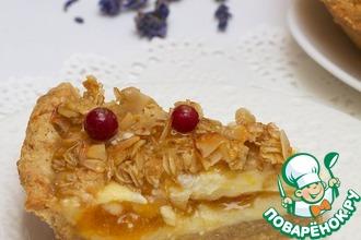 Рецепт: Творожный пирог с абрикосом и лавандой