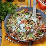 Сковорода Мексика со свиными шницелями