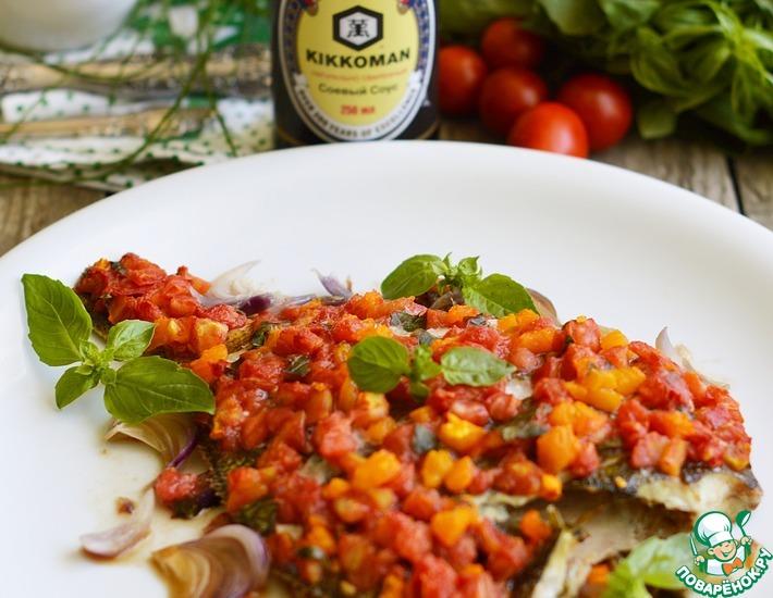 Рецепт: Камбала с помидорами