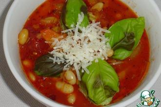 Рецепт: Суп из томатов и белой фасоли по-итальянски