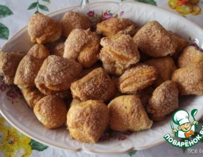"""Рецепт: Творожное печенье """"Ушки"""""""