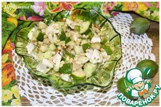 Рецепт: Салат с курицей и фейхоа