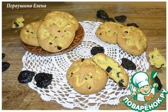 Рецепт: Печенье имбирное с черносливом и куркумой