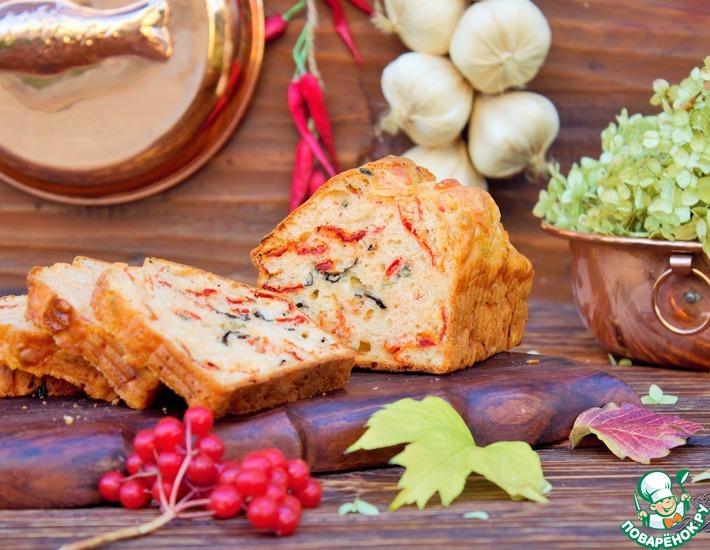Рецепт: Хлеб с моцареллой и вялеными томатами