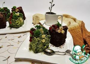 Подаём пирожные с горячим кофе или чаем.
