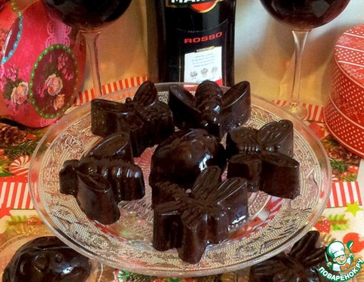 Рецепт: Сливочный щербет в шоколаде