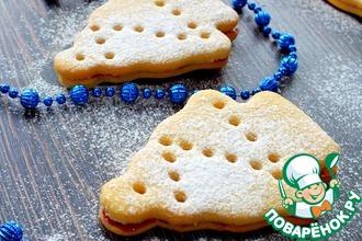 Рецепт: Печенье Сахарные елочки