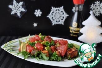 Рецепт: Салат с лососем-гриль Круиз