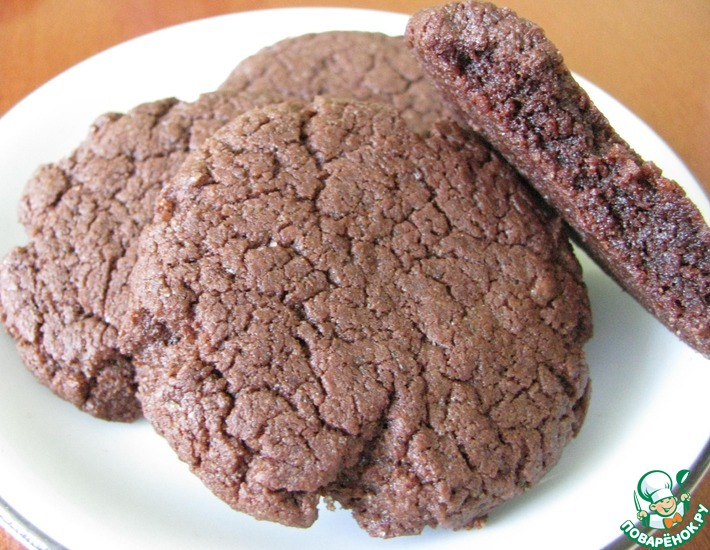 Рецепт: Шоколадные печенья