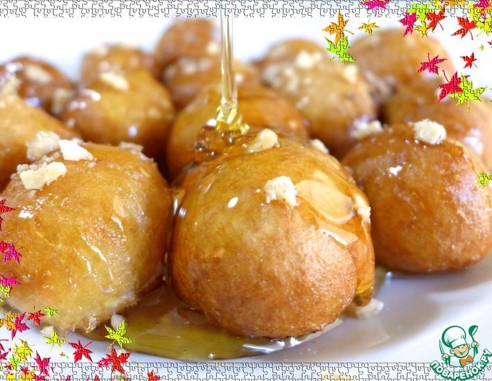 Рецепт: Пончики по-гречески Лукумадес