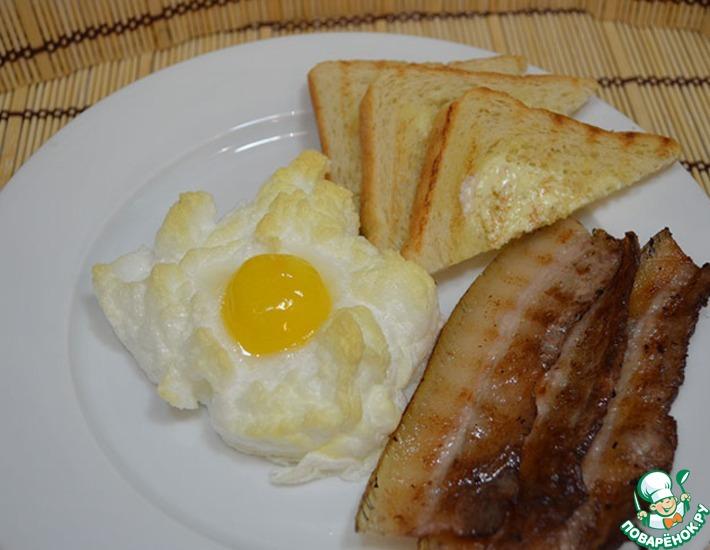 Рецепт: Яйца в облаках