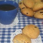 Творожное печенье с клюквой и овсяными хлопьями