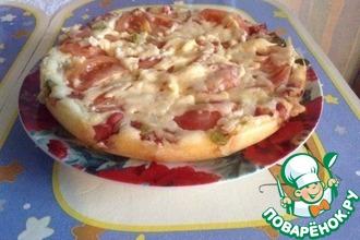 Рецепт: Быстрая пицца в мультиварке