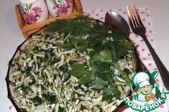 Рецепт: Кальмаровый салат-коктейль Острый