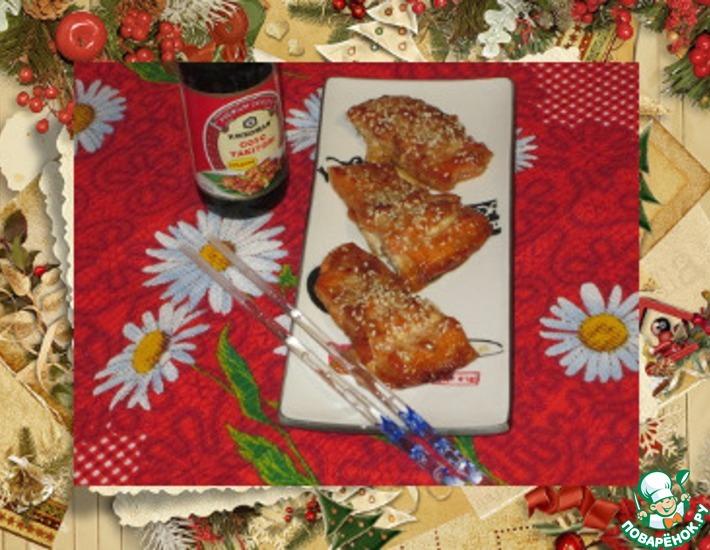 Рецепт: Запеченный лосось с кунжутом