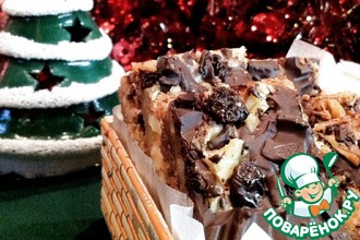 Рецепт: Батончики с шоколадом и орехами