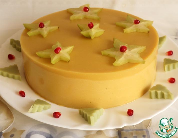 Рецепт: Манговый торт-мусс с сюрпризом