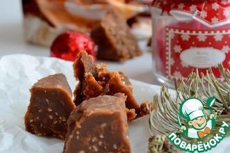 Рецепт: Шоколадно-мятная помадка с кунжутом