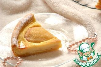 Рецепт: Пирог с карамелизированными грушами и заварным кремом