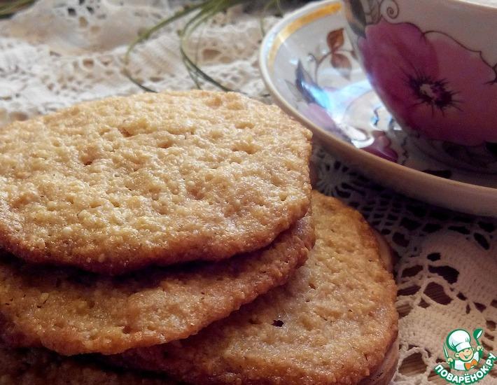 Рецепт: Печенье арахисовое Удивительное