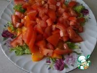 Салат Помидоры с хурмой ингредиенты