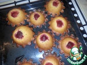 Медовые кексы с клубникой – кулинарный рецепт