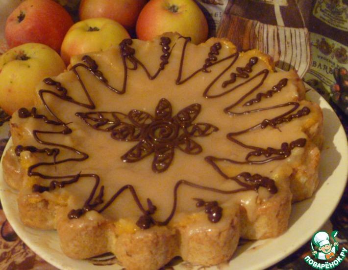 Рецепт: Яблочный пирог Неженка