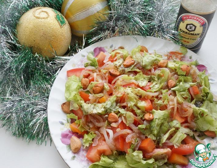Рецепт: Салат Помидоры с хурмой