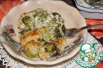 Рецепт: Запеченная брюссельская капуста под сырной корочкой