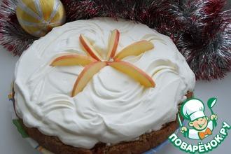 Рецепт: Песочный пирог с яблоками
