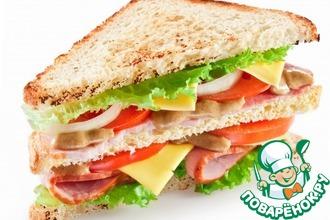Рецепт: Сендвич «Утренний»