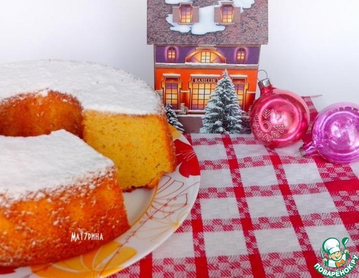 Рецепт: Апельсиново-ванильный кекс