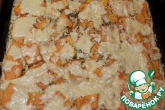 Рецепт: Куриное филе с тыквой под сыром