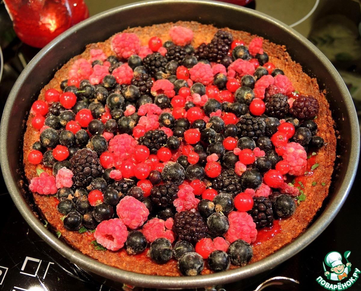 Рисовый торт с ягодным миксом