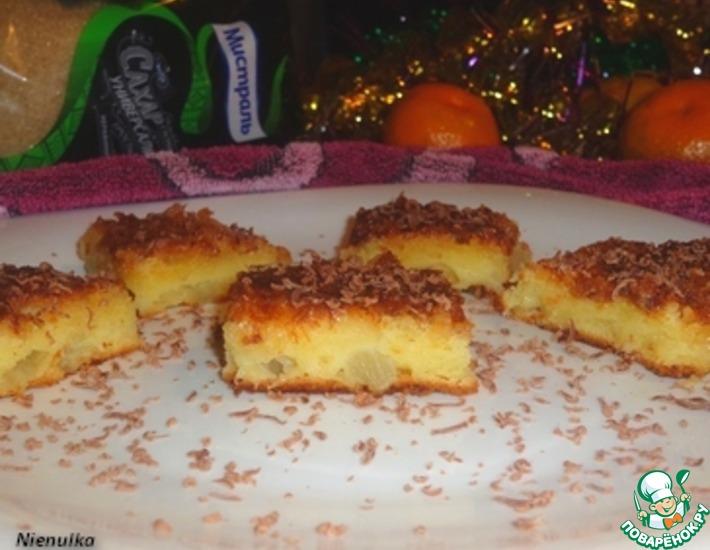 Рецепт: Кокосово-ананасовый кухен