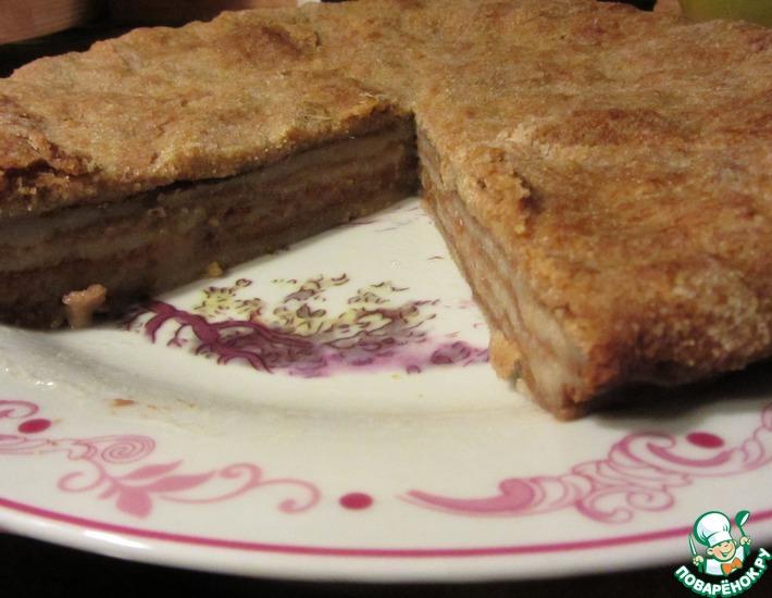 Рецепт: Пирог с яблочной пеной