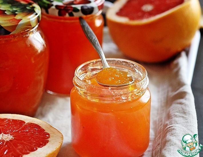 Рецепт: Грейпфрутовый конфитюр