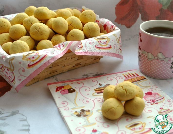 Рецепт: Печенье из рисовой и кукурузной муки