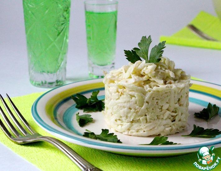 Рецепт: Салат из корневого сельдерея и яблока