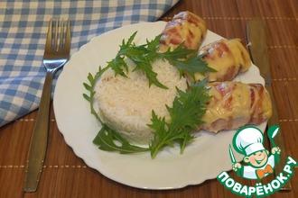 Рецепт: Биточки из индейки на рисовой шубе